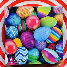 Buffalo Puzzle Color Explosion Eggs Easter 300 PC Large Pieces Painted Dyed