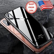 iPhone 10 X Estuche Fino y Ultra Delgado de Cristal Transparente Cubierta Suave