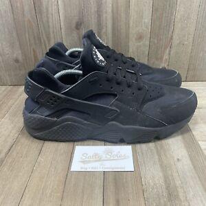 Nike Air Huarache 'Triple Black' Sneakers Shoes (318429-003) Mens Size 12