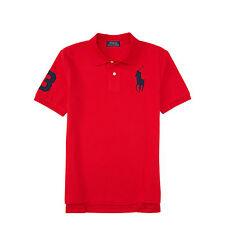 Boy Ralph Lauren Red Short Sleeve Big Pony Polo Size 7