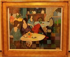 Afternoon Tea by Artist Itzchak Tarkay, hand signed and numbered by the artist.