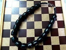 Banjara Tibetan Ethnic India Amber Look Resin Beads Tribal Bold Necklace 886