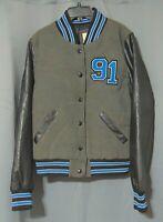 VTG 90s NO BOUNDARIES Varsity/Letterman Jacket BLUE/BLACK/GRAY Lined Sz L(12-14)