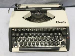 Vintage OLYMPIA Manual Portable Typewriter - CURSIVE / Script - Needs Service