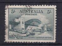 APD632) Australia 1932 5/- Sydney Harbour Bridge, commercially used. Lightish
