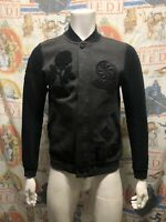 Men's NIKE The Black Rose Tech Fleece Destroyer Jacket Heathered Grey Size S