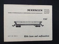 Notice Marklin Train HO 7197 Modelisme