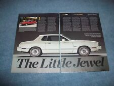 "1974 75 76 77 78 Mustang II History Info Article ""The Little Jewel"" Cobra"