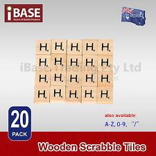 20x Wooden Alphabet Scrabble Tiles Letter H Scrapbooking Complete Handcraft