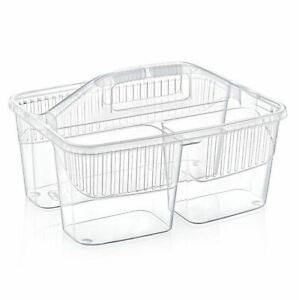 Multipurpose Cleaning Caddy Basket With Carry Handle Divider Utility Storage Box