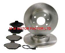 FOR Fiat Punto MK2 1.2 8v 1999-2004, Solid Front Brake Discs & Pads