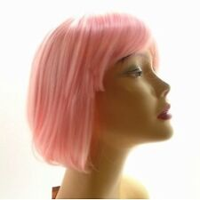 Halloween Fancy Party Wig Bob Style Costume Cosplay Birthday day Hair Light Pink