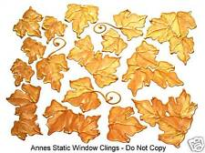 GOLD IVY LEAF STAINED GLASS WINDOW CLING SUN CATCHER DECORATION DECAL STICKER