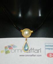 Parure Collana e Orecchini in puro caucciù brasiliano con perle vere OMA19