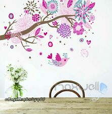 Colorful Bird Tree Branch Wall decals Removable sticker kids nursery decor mural