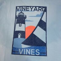 Vineyard Vines Mens Sailboat Poster L/S Pocket T-Shirt Jake Blue Sz XL- NEW