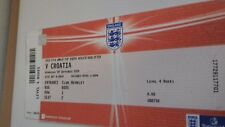 FIFA World Cup South Africa Qualifier v Croatia 09/08/2009  unused ticket