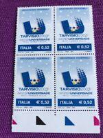 ITALIA 2003 QUARTINA UNIVERSIADI INVERNALI DI TARVISIO 2003  NUOVI