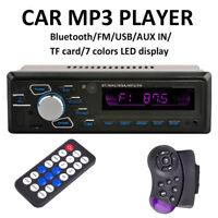 Car Stereo Radio Bluetooth In-dash Head Unit Player FM MP3/USB/TF/AUX Hands-free