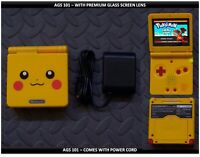 Nintendo Game Boy Advance GBA SP System AGS101 Brighter Glass Screen Pikachu