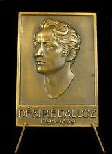 Médaille Victor Alexis Désiré Dalloz urisconsulte jurisprudence Septmoncel Medal