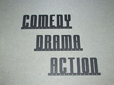 COMEDY ACTION DRAMA With Stars Wall Decor Movie Signs Cinema Theater Art