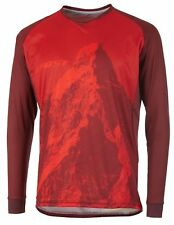 Ghost MTN Ride line Jersey Long, Riot red/Dark Red bike camiseta, lonsleeve, M