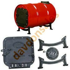 Wood Stove Barrel Kit Cast Iron Heat Drum Gallon Door Cabin Lodge Workshop Heavy