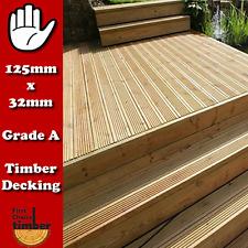200 mtrs of 125mm x 32mm tanalsied garden decking only £1.99 per Metre decking