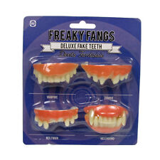 DENTI Finti HALLOWEEN FANCY DRESS FREAKY Zanne VAMPIRO ZOMBIE WOLFMAN Hellhound