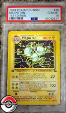 1999 Pokemon Fossil Magneton 1st Edition #26 PSA 10 Gem-Mint
