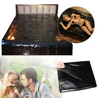 PVC Waterproof Bed Sheet Couples Adult Game Wet Sexy Black Bedding Outdoor Sheet