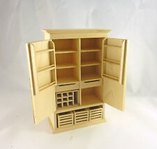 Dollhouse Miniature Unfinished Swing Open Craft, Sewing Cabinet, J1509