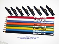 GRAFF*ETCH PENCIL ME IN BARBER ETCHING COLORED PENCILS *NEW* 8- COLOR'S(primary)