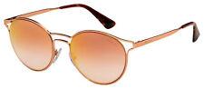 Солнцезащитные очки Prada PR 62SS svfad 2 53 розовое золото рамка   Роза зеркало градиентные линзы