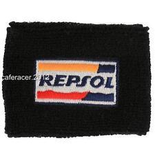 REPSOL HONDA CBR BRAKE RESERVOIR SOCKS FLUID TANK COVER BLACK 125 600RR 1000RR