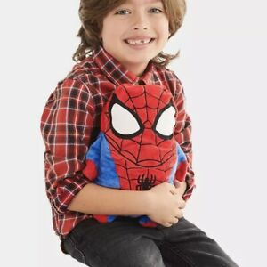 Cubcoats Spiderman plush kids hoodie packable kids youth 3-4