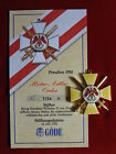 Göde Orden Preußen 1792 - Roter Adler Orden + Zertifikat Nr.3154