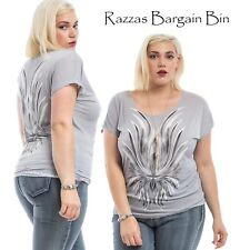 New Ladies Gorgeous Grey Top Plus Size 20/3XL (9807)LL