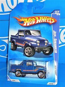 Hot Wheels 2009 Heat Fleet Series #123 Jeep Scrambler Mtflk Blue w/ OR5SPs