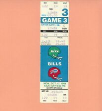 Buffalo Bills at New York Jets 10-17-1988 FULL ticket stub NFL Jim Kelly game