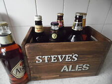 Beer Crate Personalised  Gift For Him Vintage Style Handcrafted Present