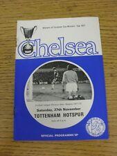 27/11/1971 Chelsea v Tottenham Hotspur  (Heavy Rusty Staples, Token Removed). Un