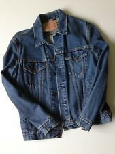 Custom Vintage Levis Denim Jacket (L) Grade A - Keep on Truckin' - Route 66