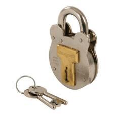Silverline Old English Padlock 50mm 376867 4 Brass Levers Includes 2 Keys Steel