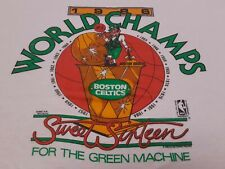 VTG 80s 1986 NBA Boston Celtics World Champs Champions Tee T Shirt White X-Large