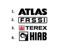 Sticker, aufkleber, decal - ATLAS, FASSI, TEREX, HIAB 50 70 100 cm