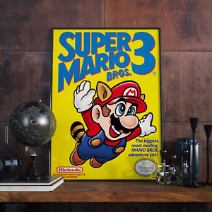 """Super Mario Bros 3 Cover (11"""" X 17"""") Poster Glossy Print Collector's Video Game"""