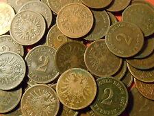 GERMANY Kaiserreich 2 pfennig KM2 1873 1874 1875 1876 1877 A B C D E F G H J