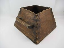 large antique 19th century handmade wood and wrought iron sorting box pail crate